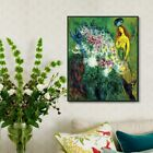 Framed Canvas Wall Art Flower#21 by Marc Chagall Living Room Home Decorations
