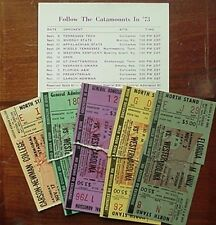 1973 Western Carolina Football Ticket Stubs, 5 Different (Complete Home Schedule