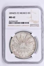 1894ZS FZ Mexico 8 Reales NGC MS 62 Witter Coin