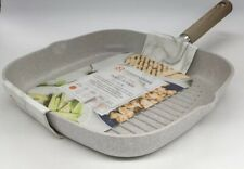 """Masterclass Premium Cookware 11"""" Grill Pan Beige Speckled INDUCTION Non Stick"""
