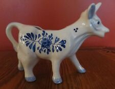 Vintage Delfts Blue Cow Creamer Hand-painted Holland Number 46 Lovely!