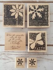 Stampin Up Nature's Secret Set Of Six (6) Wood Mounted Rubber Stamps 2005
