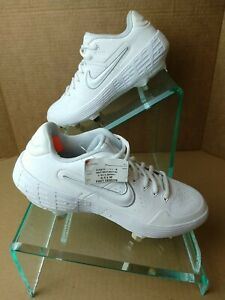 Nike Boys Alpha Huarache Elite Low AJ6873-111 Metal Baseball Cleats. Sz 6.5. A7
