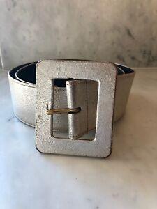 Vintage YSL Metallic Soft Gold Leather Corset Belt