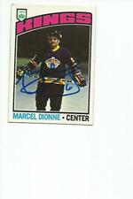 MARCEL DIONNE Autographed Signed 1976-77 Topps card Los Angeles Kings COA