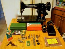 VINTAGE Direct Drive HD 1951 Singer 201 Sewing Machine Denim Leather