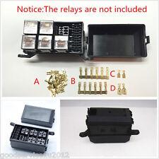 New Black Car Vehicles 6-Relay 5 Road Relay Box Relay Fuse Holder Insurance Tool