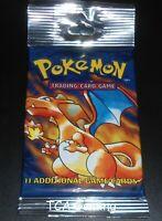 SEALED Base Set Booster LONG Pack - Charizard Art - WOTC Pokemon Cards - LIGHT