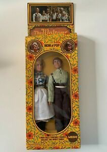 """Johnboy and Ellen 8"""" Fully Posable The Waltons Doll Figurines Mego NRFB"""