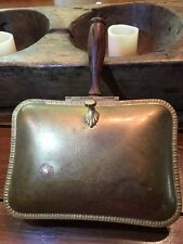 """Vintage Brass Silent Butler - Made in Italy CLAW FEET and Olive Wood Handle 7""""x5"""