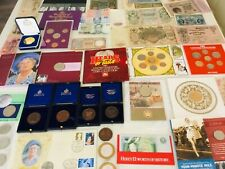 More details for joblot gb coin sets medals banknotes & other coins/stamps