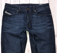 Mens DIESEL Waykee Jeans W30 L32 Blue Regular Straight Wash 0823K