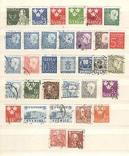 Q7084 - SVEZIA - 1966 - LOTTO 33 USATI DIFFERENTI - VEDI FOTO