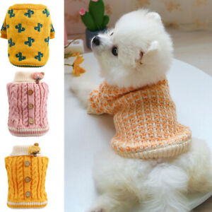 Dog Cat Puppy Warm Sweater Coat Knitted Jumper Elastic Cute Thick Pet Clothes