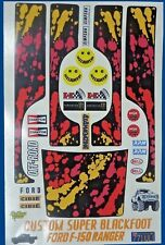 SUPER BLACKFOOT CUSTOM TAMIYA HPI LOSI RC 1/10th PLUS EXTRA DECALS STICKERS