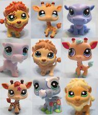 Littlest Pet Shop Set RANDOM Lot of 3 Hippo Giraffe Lion Authentic SURPRISE!