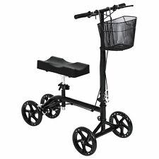 Leg Crutch Steerable Turning Folding W/ Basket Fda ApprovedKnee Walker Scooter