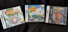 Nintendo DS Lot Of 3 Games Science Papa Phineas and Ferb Titanic
