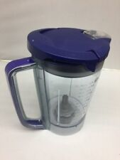 NEW Ninja Kitchen System Pulse 48 oz Pitcher Cup+ Lid for BL250 BL206 BL207 BLUE