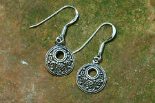 Wikinger Ohrringe Silber Spiralen 925er Sterlingsilber Ohrhänger Viking Kelten