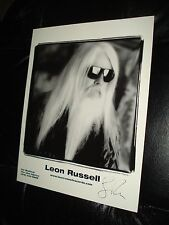 Leon Russell signed photo