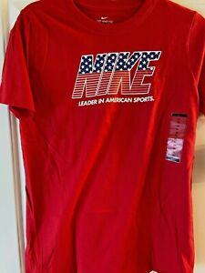 Nike T Shirt 4th of July Red Short Sleeve The Nike Tee Size XL $18 Boys or Girls