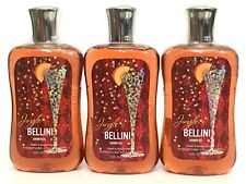 LOT 3 BATH & BODY WORKS JINGLE BELLINI BODY WASH SHOWER GEL 10 FL OZ SIGNATURE