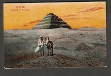Egypt unmailed The Cairo Trust post card Caire Pyramide de Sakkarah