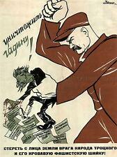 Propaganda Unión Soviética Trotsky Stalin asesinato político de colección Cartel 1959pylv