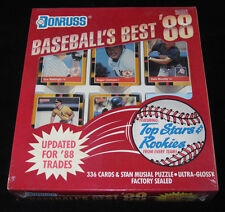 """1988 DONRUSS """"BASEBALL'S BEST"""" FIRST EDITION FACTORY SEALED COLLECTORS CARD SET"""