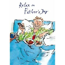 Quentin Blake Relax On Father's Day Greeting Card Cartoon Range Cards