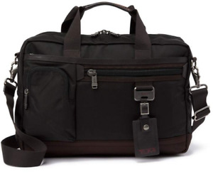 Tumi CARR COMMUTER EXPANSION TOP ZIP BRIEF Hickory Dk Brown Nylon 69618HKO $395