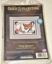 "DIMENSIONS GOLD COLLECTION TRAVEL MEMORIES  COUNTED CROSS STITCH KIT 7"" X 5"""