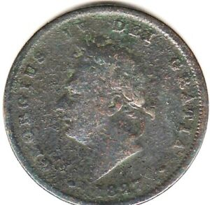 1827 George IV PENNY from GREAT BRITAIN rare