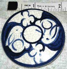 New listing pretty Delft blue porcelain bunny rabbit design signed silver tone clasp brooch
