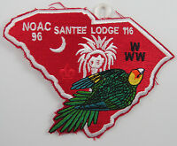 OA Lodge 116 Santee X3 shape of SC; NOAC96 [D1705]