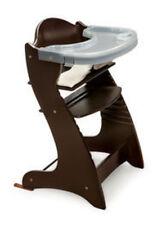 Badger Basket Embassy Adjustable Wood High Chair in Espresso 00936  New