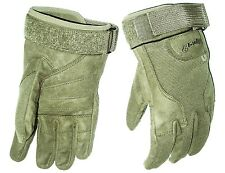 HEAVY DUTY SPECIAL OPS GLOVES cadets Army military ultra tough mens Large olive