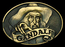 Jrr Tolkien'S ~ Gandalf ~ Solid Brass Belt Buckle ~ Extremely Rare ~ Brand New!