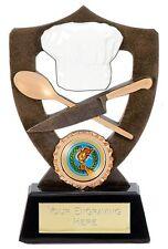 Cooking Catering Chef venire a cenare con me Bake off Torta Cibo Trofeo in resina A902B B3