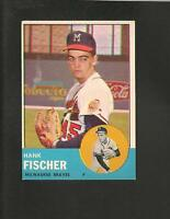 1963 Topps # 554 Hank Fischer EX