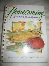 BAYLOR UNIVERSITY HOMECOMING COOKBOOK & MEMORIES TEXAS SOUTHWESTERN RECIPES