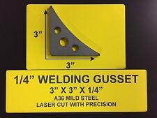 """Steel Weld Gussets 3"""" X 3"""" X 1/4"""" A36 Steel (12) Piece Steel Weld Gusset Set"""