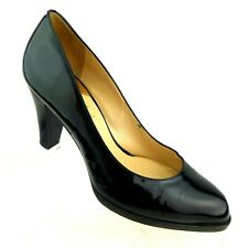 Cole Haan Women's Pumps US 7B NikeAir Black Patent Leather Rounded Point Toe
