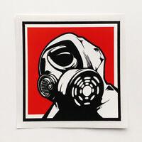 Gas Mask Sticker Decal Vinyl Biohazard Bumper Car Van Bike Zombie Horror Fallout