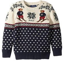 Polo Ralph Lauren, Baby Boy/Girl, Ski Bear Cotton-Merino Sweater, size 3T