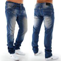 Jeans Vintage denim clubwear pour hommes étroite Slim Fit Riccardo