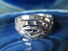 Ring Silver Ring Located Cruising Bands from Sterling Silver 925 Size 18,4 MM
