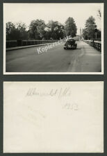 orig Foto Altenmarkt Alz Auto VW Käfer Straße Alz-Brücke Kirche St. Ägidius 1953