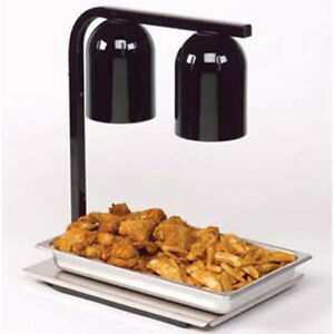 Food Heat Lamp - Free Standing Two Bulb Infrared